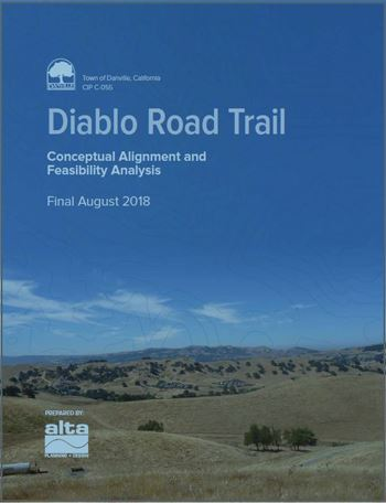 Front Cover Diablo Road Trail Feasibility Analysis