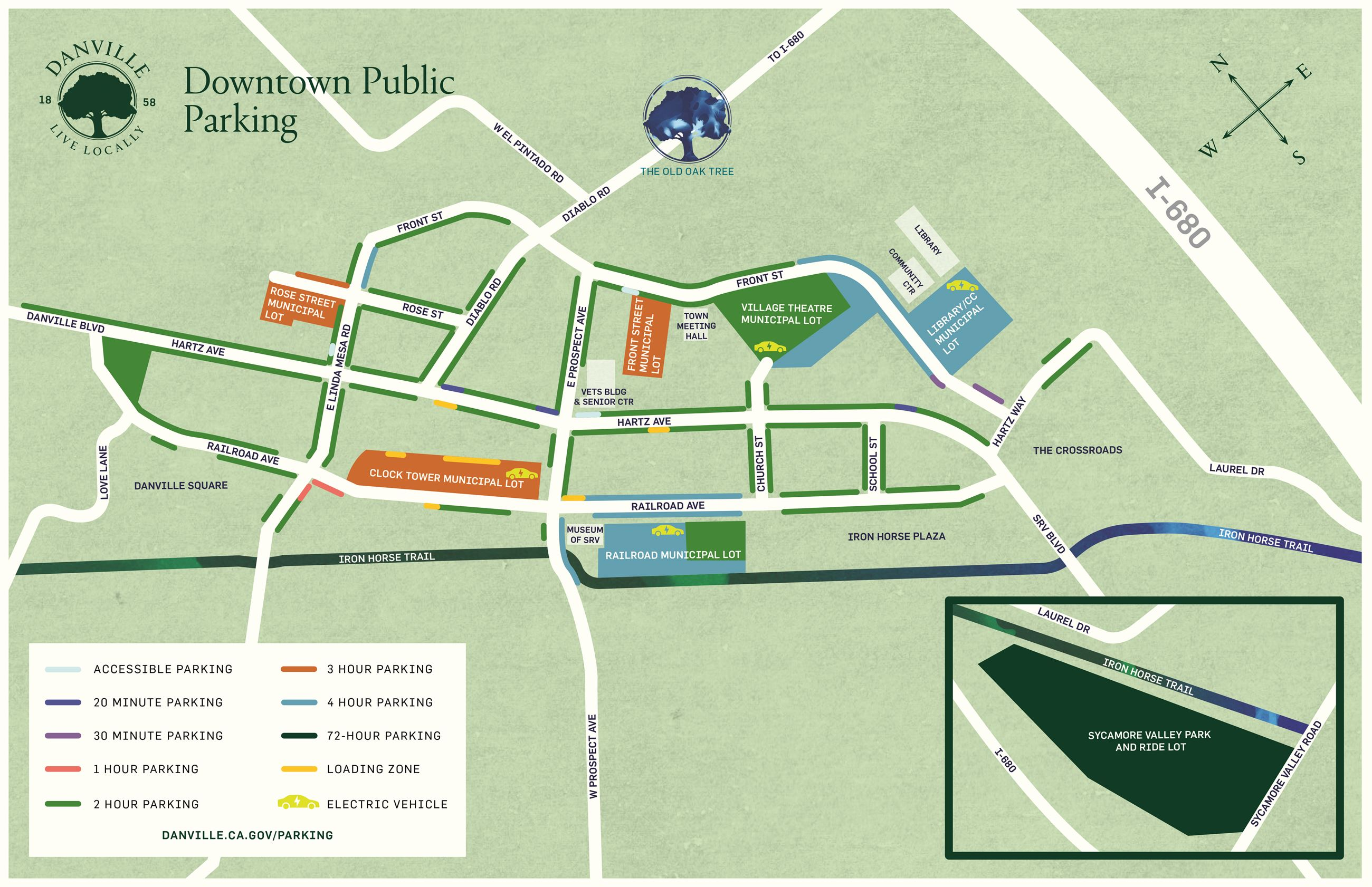 Downtown Danville Parking Map