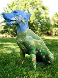 Dogs of Danville Sculpture - California Poppies