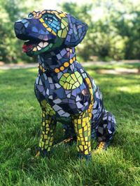 Dogs of Danville Sculpture - Mosaic