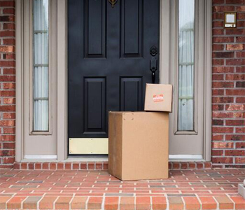 Parcel left on a doorstep