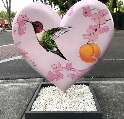 Sarah Lee's Heart with Hummingbird
