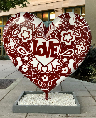 Paula Kim's heart at Senior Center E. Prospect