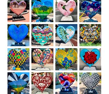 Photo Montage of all the Hearts around Hartz