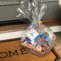 Sweet Street Candy Gram on a doorstep Opens in new window